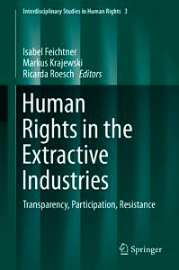 """Cover to the book """"Human Rights in the Extractive Industries"""""""